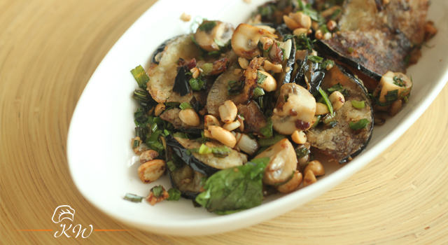 Recipe Video: Crisp Fried Eggplant Dredged with Peanuts