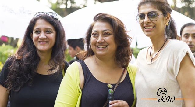 KhaanaWaana Events: Karen Anand with chocolatier Zeba Kohli
