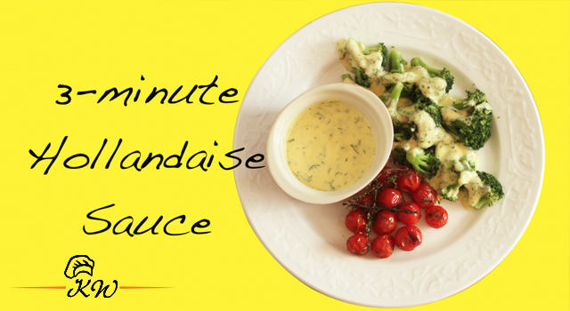 Video recipe of 3-minute Hollandaise Sauce in a Blender