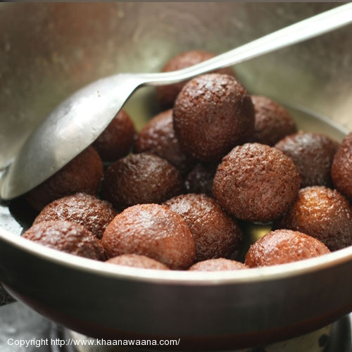 Soft Milk Dumplings Soaked in Sugar Syrup (Gulab Jamun)