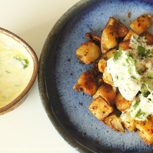 Roasted Potatoes with Lemony Yoghurt Dressing