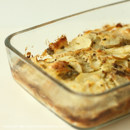 Potato and Onion Bake