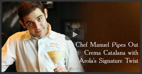 Video -Chef Manuel of Arola, JW Marriott Mumbai cooks Crema Catalana, a Spanish Dessert