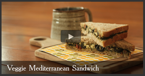 Vegetarian Mediterranean Sandwich Recipe Video